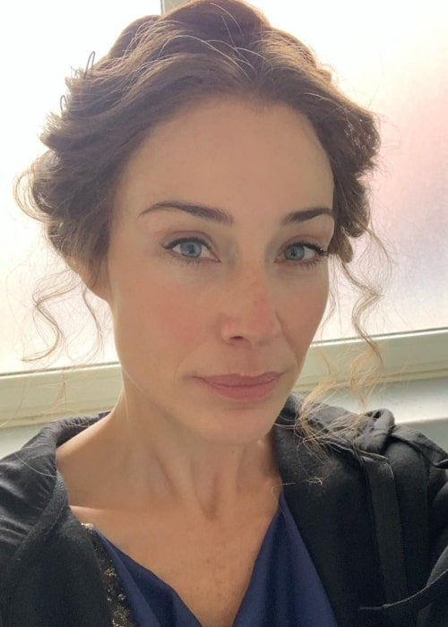 Claire Forlani in an Instagram selfie from January 2020