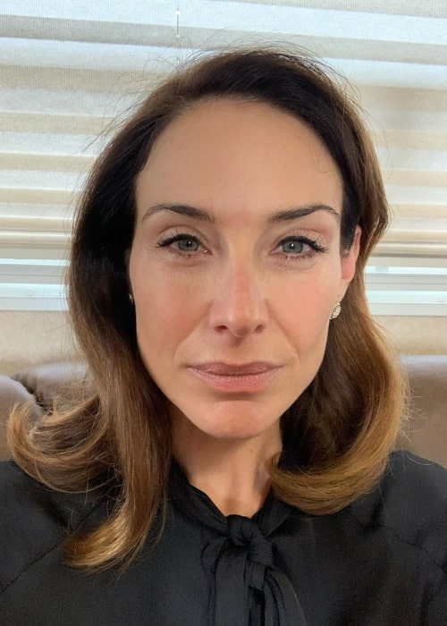 Claire Forlani in an Instagram selfie from November 2019