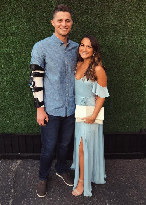 Corey Seager and Madisyn Van Ham, as seen in June 2018