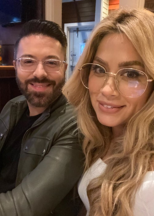 Danny Gokey and Leyicet Peralta, as seen in September 2020