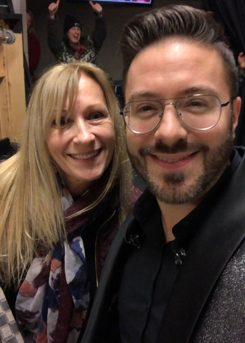 Danny Gokey with his mother, as seen in May 2020