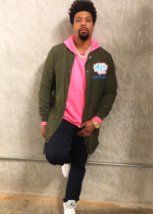 DeRay Davis as seen in a picture that was taken in December 2019