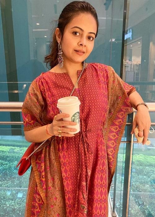 Devoleena Bhattacharjee as seen in September 2020