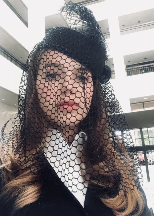 Devon Hales as seen in a selfie that was taken in September 2020, while she wore a veil