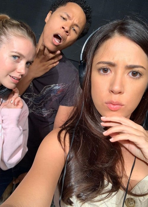 Devon Hales as seen in a selfie that was taken with her co-stars 𝗖𝗵𝗮𝗿𝗶𝘁𝘆 𝗖𝗲𝗿𝘃𝗮𝗻𝘁𝗲𝘀 and Eric Graise in August 2020