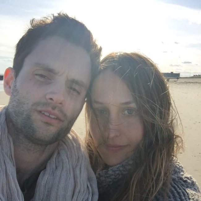 Domino Kirke as seen in a selfie that was taken with her beau Penn Badgley in January 2020