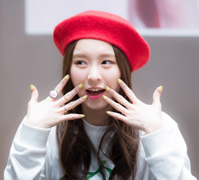 Elkie Chong pictured at a fan-event in March 2016