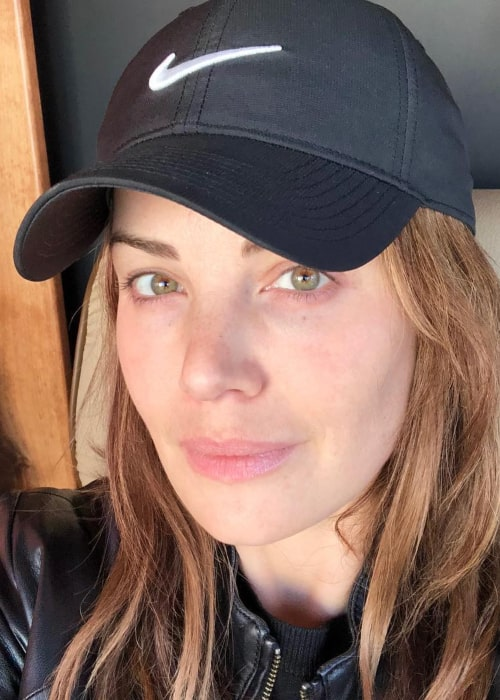 Erica Durance in an Instagram selfie from January 2019