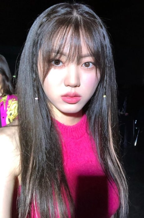 Eunbin as seen while taking a selfie in September 2019