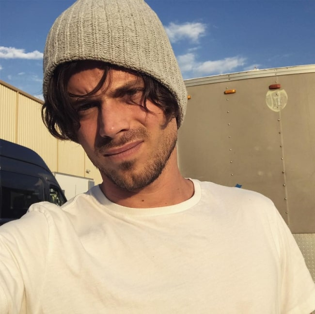 François Arnaud as seen while taking a selfie in Albuquerque, New Mexico in August 2018