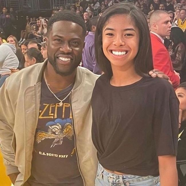 Gianna Bryant as seen posing with comedian Kevin Hart