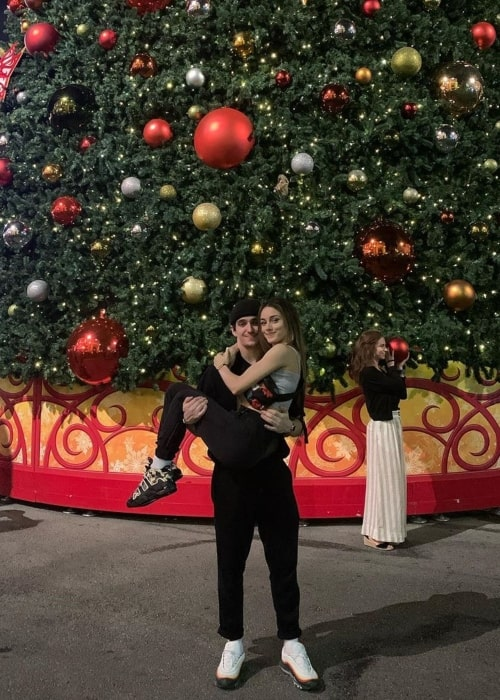 Gino Cosculluela as seen in a picture that was taken with his dance partner Brianna Navarro in at the Universal Studios Florida in January 2020