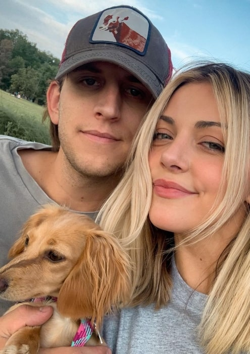 Illenium with his girlfriend and pet in July 2020
