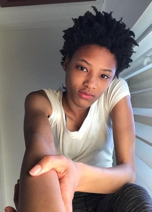 Janaye Furman as seen in a selfie that was taken in Los Angeles, California in May 2020