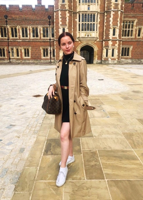 Jolie Vanier posing for a picture at Eton College in August 2019