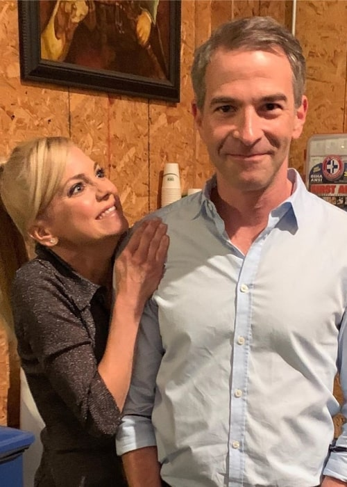 Jordan Schlansky as seen in a picture that was taken with actress Anna Faris in September 2019