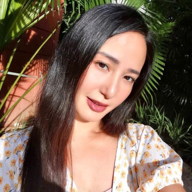 Katrina Halili as seen in a selfie that was taken in October 2020