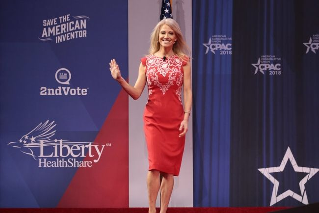 Kellyanne Conway as seen arriving at the CPAC event in 2018