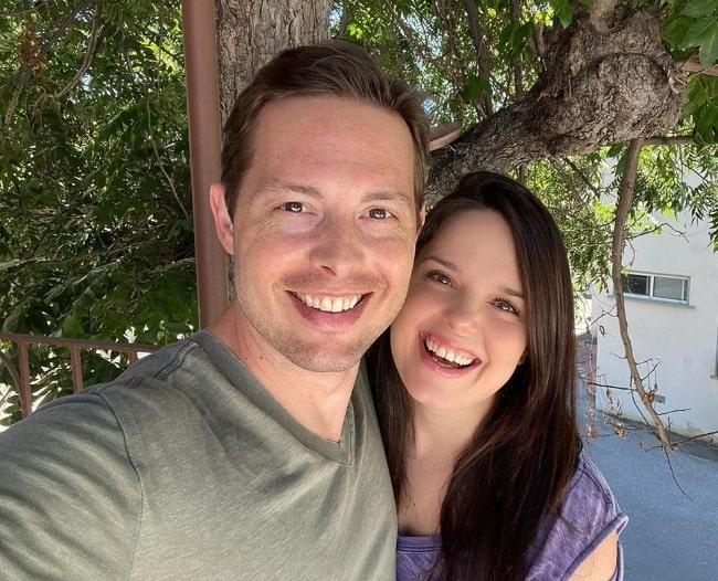 Kimberly J. Brown as seen in a selfie alongside Daniel Kountz in August 2020