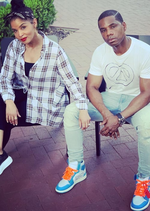 Kirk Franklin and Tammy Collins, as seen in June 2020
