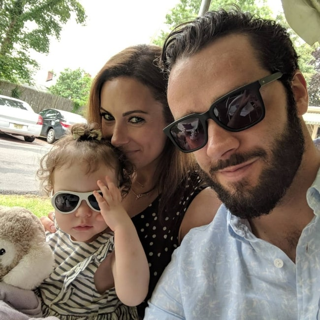 Laura Benanti as seen in a selfie that was taken with her husband Patrick Brown and their daughter Ella Rose in June 2018