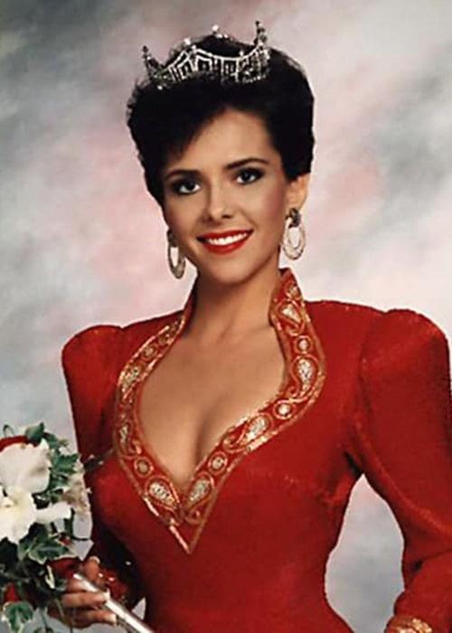 Leanza Cornett, after winning the 'Miss America' title in 1993