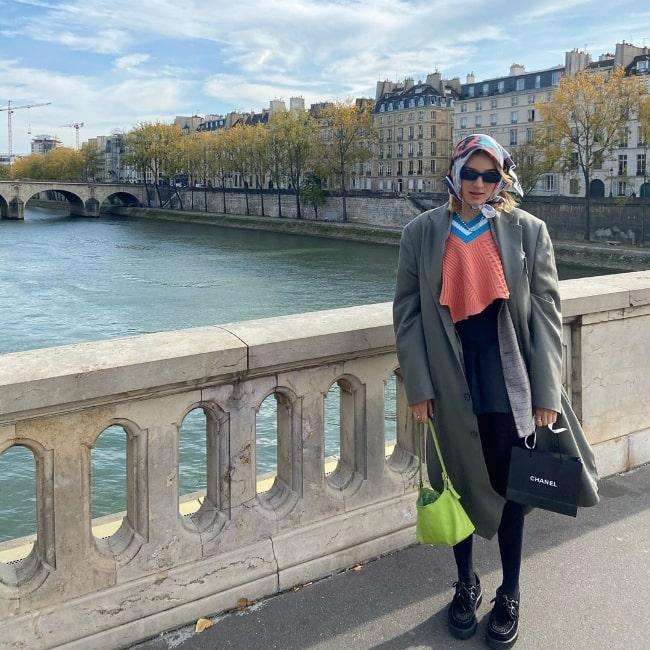 Lolo Zouaï as seen in Paris, France in October 2020