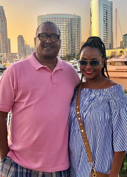 Mathew Knowles and Gena Charmaine Avery, as seen in November 2019