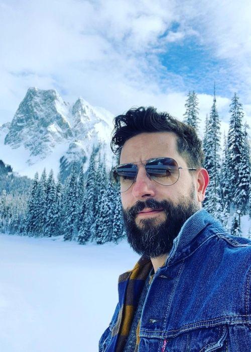 Matthew Ramsey as seen taking a selfie in Alberta, Canada in 2020