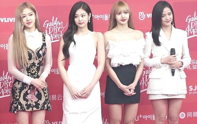 Members of Blackpink as seen at the Golden Disc Awards in 2019