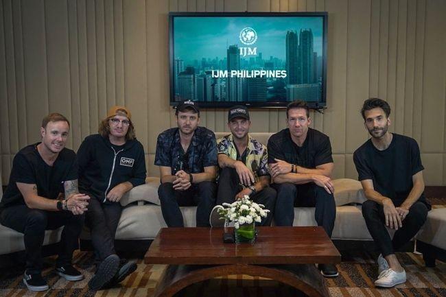 Members of OneRepublic as seen in Manila in 2019