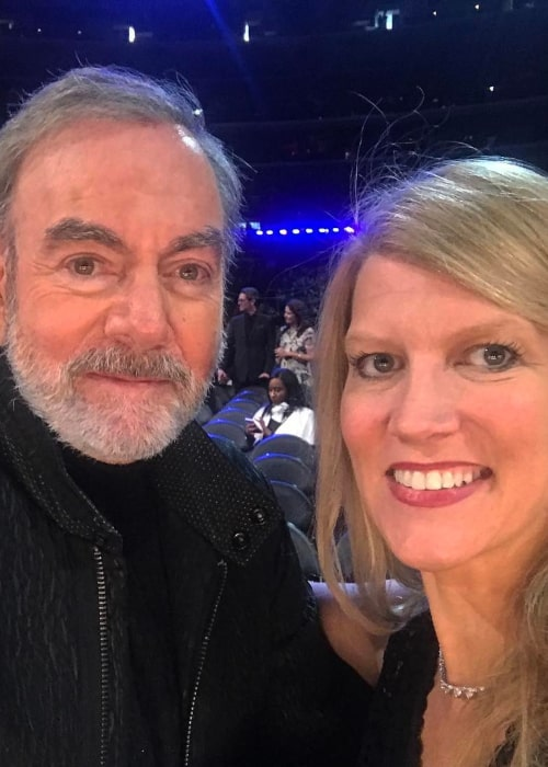 Neil Diamond and Katie McNeil, as seen in February 2017