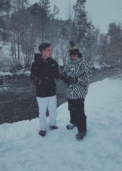 Noah Lomax (Right) as seen with Payne E. Lipton in Frisco, Colorado in March 2019