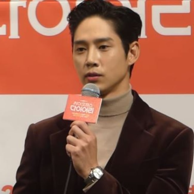 Park Sung-hoon pictured while speaking during an event in November 2019