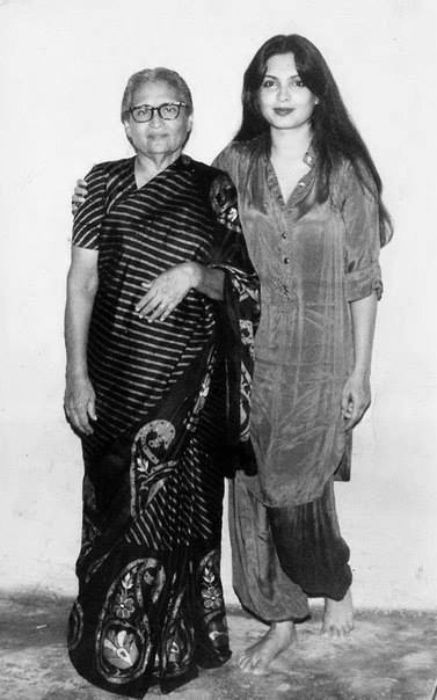Parveen Babi as seen with her mother