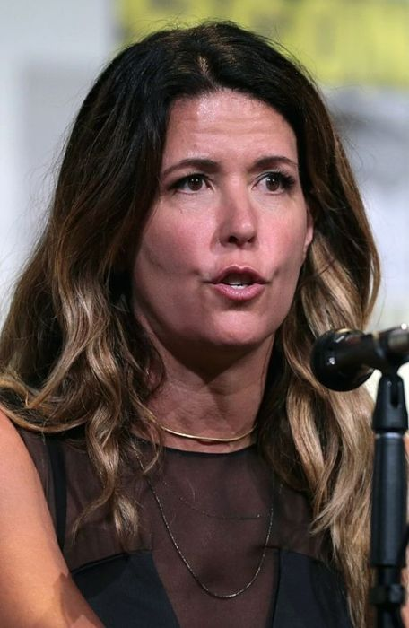 Patty Jenkins as seen speaking at the San Diego Comic-Con International in 2016