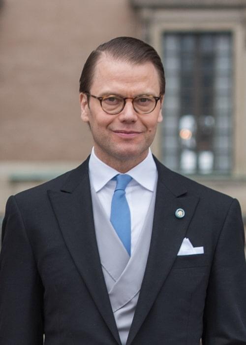 Prince Daniel, Duke of Västergötland as seen at the christening of his son Prince Oscar, Duke os Skane in May 2016