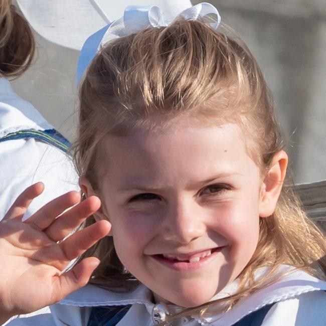 Princess Estelle, Duchess of Östergötland pictured in June 2019 in Stockholm, Sweden