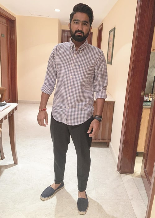 Rahul Tewatia as seen in an Instagram Post in November 2019