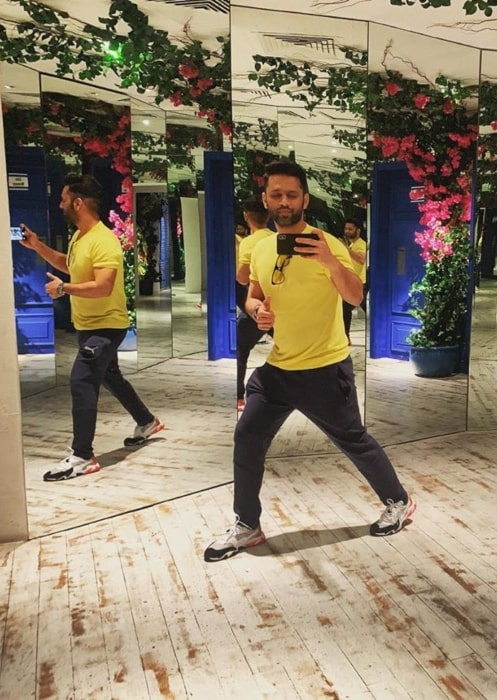 Rahul Vaidya in September 2019 stating yellow to be the colour of happiness