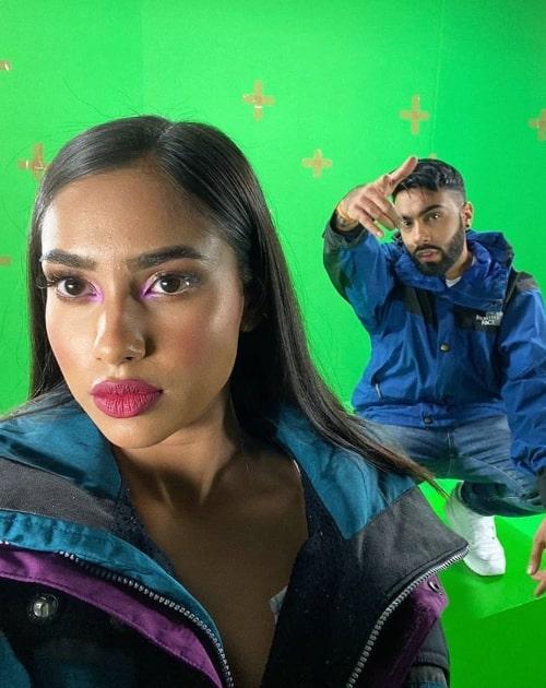 Raxstar as seen in a selfie that was taken with model María in July 2020