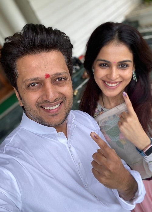Riteish Deshmukh and Genelia D'Souza, as seen in October 2019