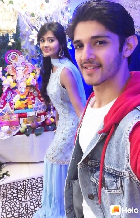 Rohan Mehra with his girlfriend in September 2019