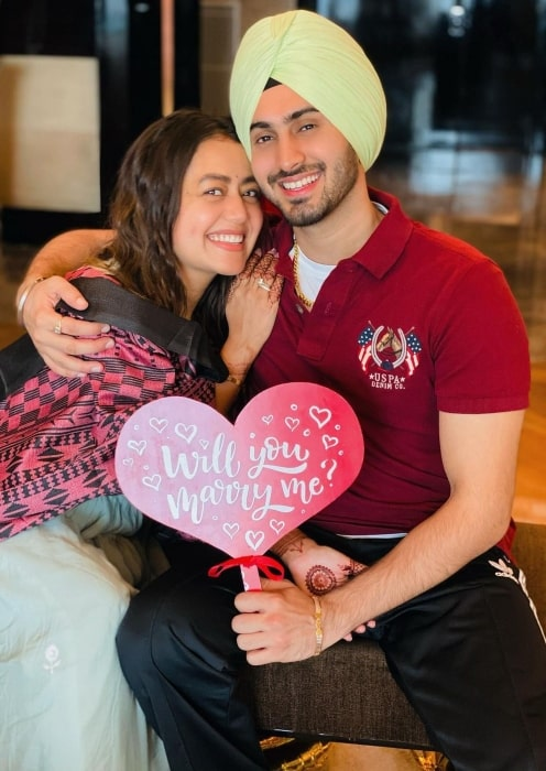 Rohanpreet Singh with his wife in October 2020