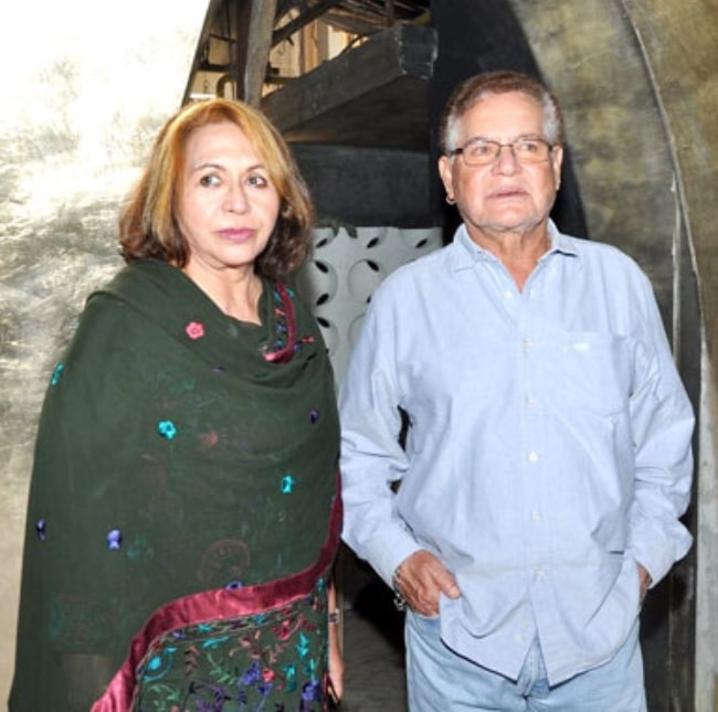Salim Khan and Helen pictured at launch of Shatranj Napoli and Polpo Cafe & Bar in September 2012