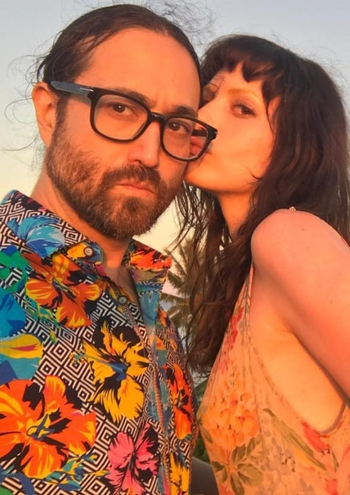 Sean Lennon with his girlfriend in August 2018