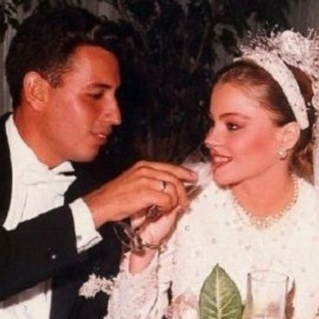 Sofía Vergara and Joe Gonzalez on the day of their wedding
