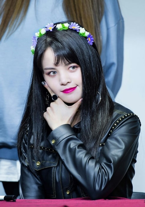 Sorn as seen while posing for a picture at Youngpoong Bookstore Gangnam Station Store Fan Sign Event on March 3, 2018