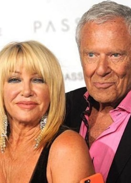 Suzanne Somers and Alan Hamel, as seen in March 2020
