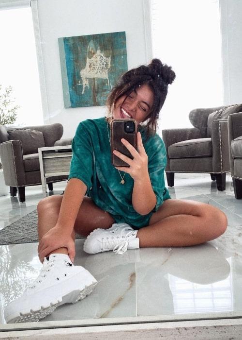 Tabitha Swatosh as seen in a selfie that was taken in September 2020